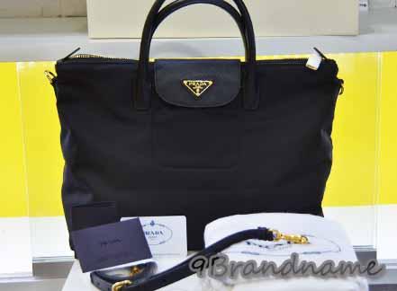 Prada Tessuto Tote ทรง Longchamp ผ้า Nylon สีดำ พร้อมสายสะพายยาว ใช้ง่ายยค่า