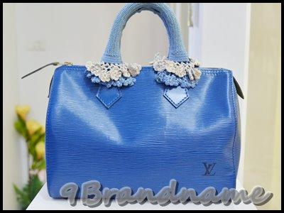 Louis Vuitton Speedy EPI blue 25 กระเป๋า ทรงหมอน ลายไม้สีฟ้า สภาพดี พร้อมหูถักค่า