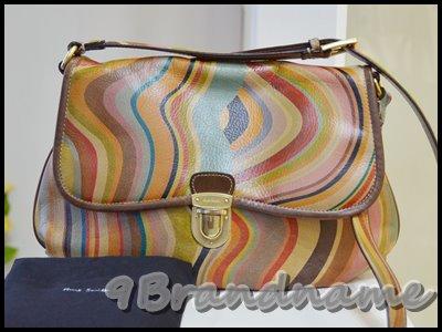 Paul Smith cross body bag Vintage Swirl กระเป๋าสะพายยาวไซส์กลาง สีวินเทจ เซอร์ๆ ค่า มือสอง