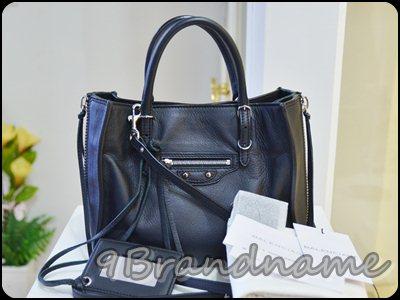 Balenciaga Mini Paper black SHW กระเป๋าทรงใหม่สุดเก๋  พร้อมสายสะพายยาว cross body ใบจิ๋วแต่จุสุดๆ มือสองสภาพเหมือนใหม่ปี 2013 ค่า