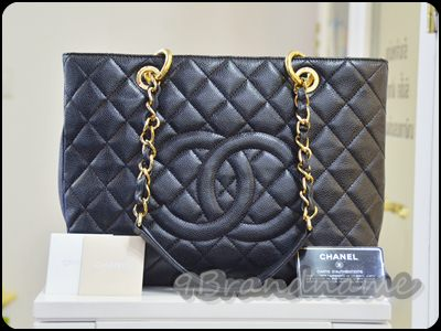 Chanel GST Grand Shopping Tote Black Caviar GHW กระเป๋าสะพายฝบใหญ่ ใช้ง่าย สุด มือสอง สภาพดี
