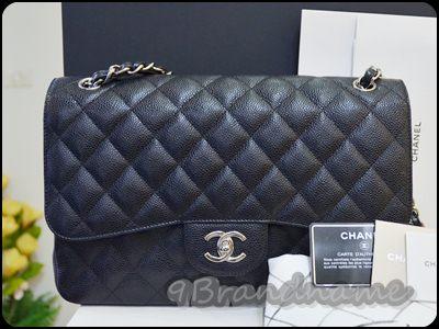 Chanel Jumbo Classic Black Caviar SHW Double flap กระเป๋าชาแนลรุ่นคลาสสิคยอดนิยม ไซส์ใหญ่ สีดำ คาเวียร์ อะไหล่เงิน สองฝา สภาพสวยเหมือนใหม่ค่า