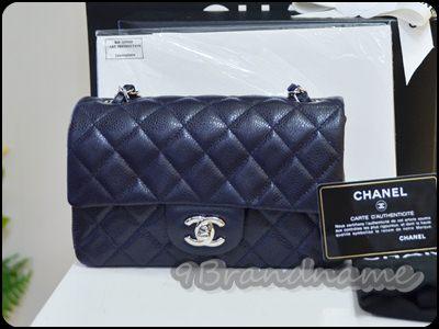 Chanel Mini 8 Classic Dark Blue caviar SHW  กระเป๋าสะพายใบจิ๋ว สุดฮิตค่า น่ารักมากๆ