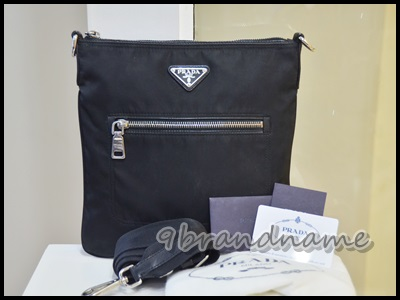 Prada Tessuto massenger bag Black Nylon from men กระเป๋าสะพาย cross body ผ้าร่มสีดำ มบเล็ก สภาพดีค่ะ