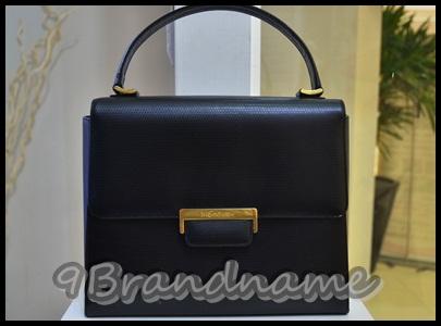 ysl vintage hand bag black- หนังจระเข้