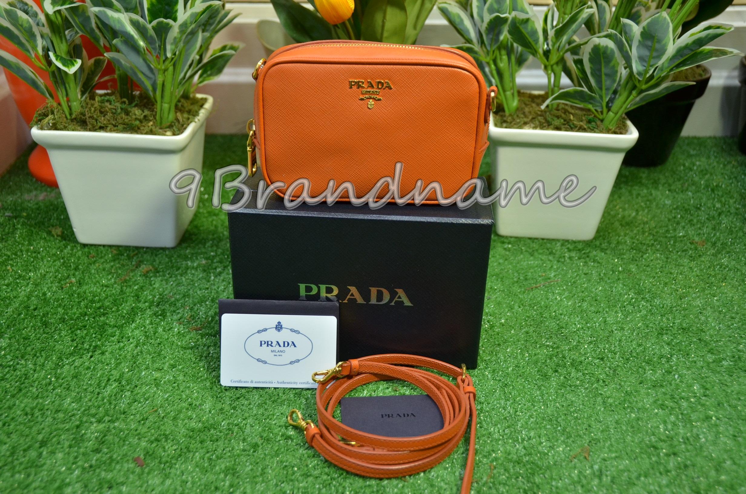 Prada Mini Box Saffiano Papaya Orange