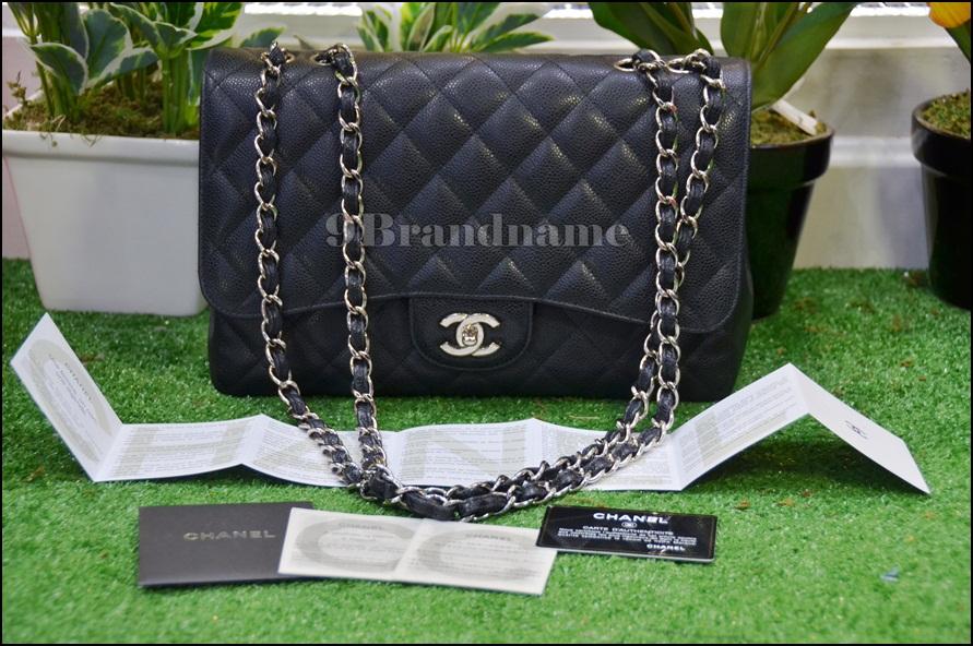 Chanel Jumbo Black Cavier SHW - Used Authentic Bag