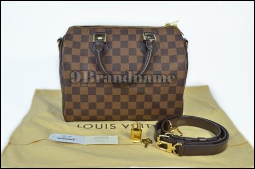 Louis Vuitton Speedy Bandoulier Damier 25 - Authentic Bag กระเป๋ารุ่นยอดนิยมใช้ง่ายใส่ของได้เยอะ ไซน์เล็กมีสายสะพายยาว ของแท้ค่ะ