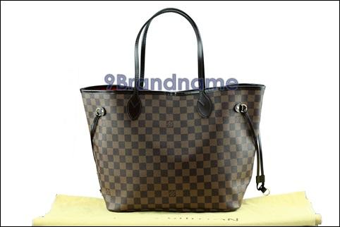 Louis Vuitton Neverfull NVF Damier MM - Used Authentic Bag  กระเป๋าหลุยวิตตองนีเวอรฟู ลายดามิเย่ไซส์กลาง ของแท้มือสองสภาพเหมือนใหม่ค่่ะ