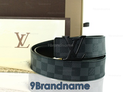 Louis Vuitton Belt Graphite - Authentic  เข็มขัดหลุยวิตตองลายกราไฟท์ ไซส์100 เอว37-41นิ้ว ของแท้ค่ะ