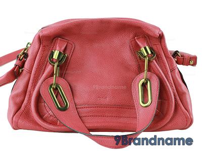 Chloe Paraty Mini Scarlet Red  - Used Authentic Bag  กระเป๋าโคลเอ้ปาราตี ไซส์มินิสีชมพูแดง ของแท้มือสองสภาพดีค่ะ