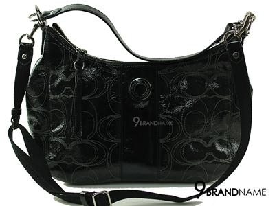 Coach Black Patent Shoulder&Crossbody Bag - Used Authentic Bag  กระเป๋าโคช หนังแก้วสีดำสะพายไหล่ได้สะพายยาวได้ค่ะ ขายกระเป๋าของแท้นะค่ะ