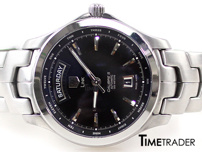Tag New Link Steel Automatic Man Size Calibre 5 หน้าดำ หลักขีด