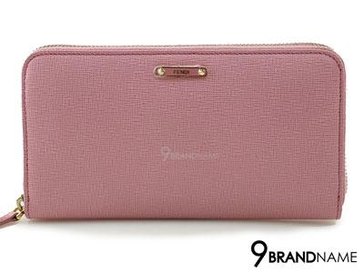 Fendi Crayons Pink Leather Zip-Around Wallet - Used Authentic Bag  กระเป๋าสตางค์ฟินดิ ใบยาวสีชมพูซิปรอบ ของแท้ค่ะ