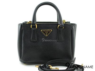 Prada Mini Saffiano Nero BN2316 Double Zip With Strap - Used Authentic Bag กระเป๋าปร้าด้า มินิซาฟฟิโน2ซิปสีดำมีสายยาว ของแท้มือสองสภาพดีค่ะ