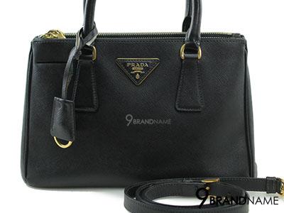 Prada Saffiano Lux Nero Size 25 Double Zip With Strap - Used Authentic Bag กระเป๋าปร้าด้าซาฟฟิโนลักไซน์25 ซิปคู่ สีดำ พร้อมสายสะพายยาว ของแท้มือสองสภาพดีค่ะ