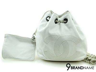 Chanel Pompom White Color SHW Lambskin - Used Authentic Bag  กระเป๋าชาแนล ปอมปอมเป้หนังสีขาวอะไหล่เงิน ของแท้มือสองสภาพดีค่ะ