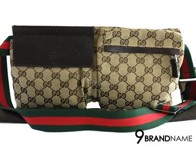 Gucci Belt Bag 28566R F4FOR 9791 สายเขียวแดง