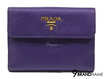 Prada 1M0523 Wallet Saffiano Metal Viola - Authentic Bag