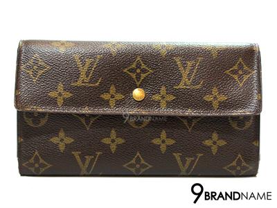 Louis Vuitton Wallet Porte Tresor International Monogram Canvas  - Used Authentic Bag  กระเป๋าตังค์ หลุยส์ วิตตอง รุ่น พรอท เทรสเซ่อ ใบยาว มีกระดุมด้านหน้า ลายโมโนแกรม ด้านในมีช่องใส่เหรียญ ของแท้มือสอง สภาพดีค่ะ