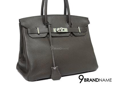 Hermes Birkin 30 Brown Clemence SHW - Used Authentic Bag  แอร์เมส กระเป๋าถือ แบรนด์ สุดหรู มือสองสภาพดีมากค่ะ ราคาสุดคุ้มค่ะ