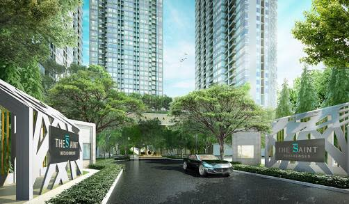 The Saint Residences in ladprao Chatuchak view