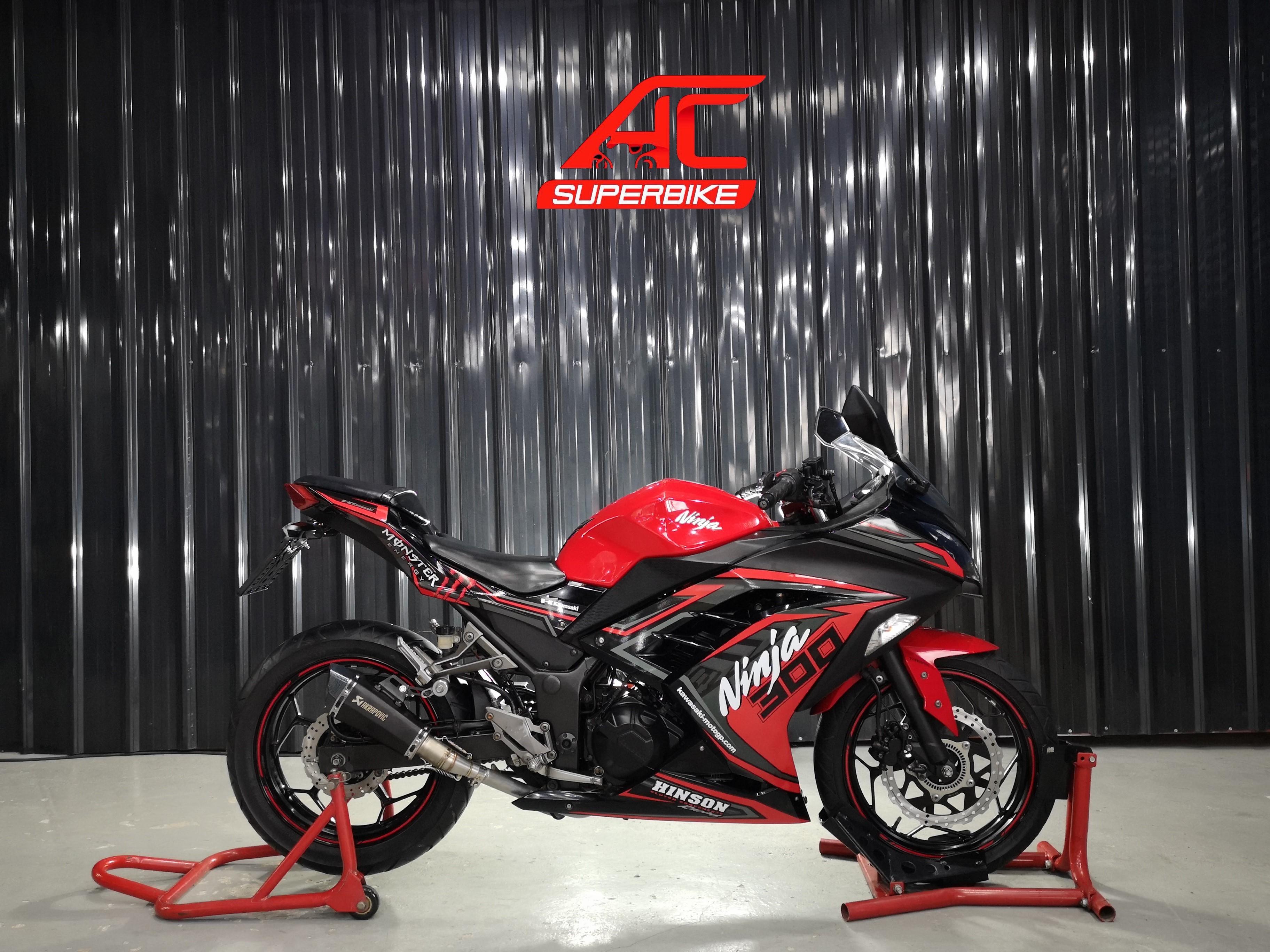 Ninja300 ABS สีดำ-แดง ปี14 (ปิดการขาย)