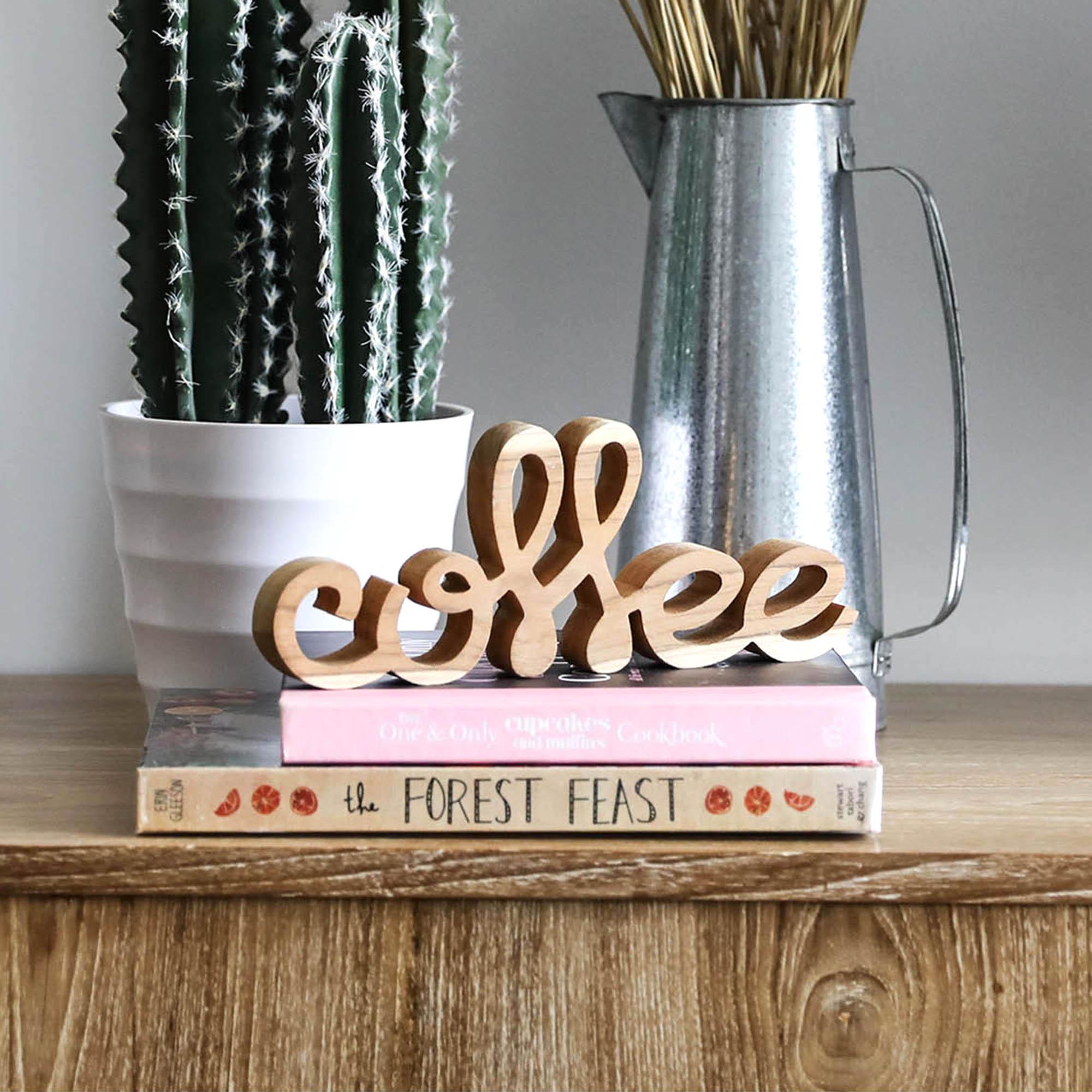 ตัวอักษรไม้ Coffee | Wooden Word - Coffee