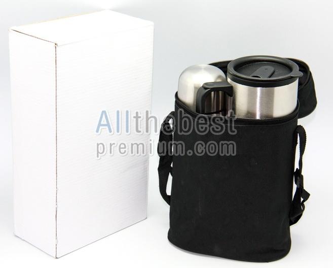 ชุด Giftset กระติกน้ำแสตนเลสและถ้วย 2 ใบ