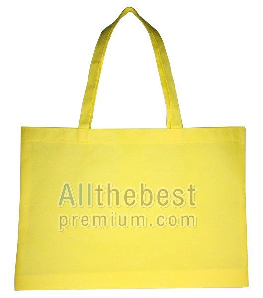 ถุงผ้าสปันบอนด์ 70 กรัมสีเหลือง แบบเย็บ
