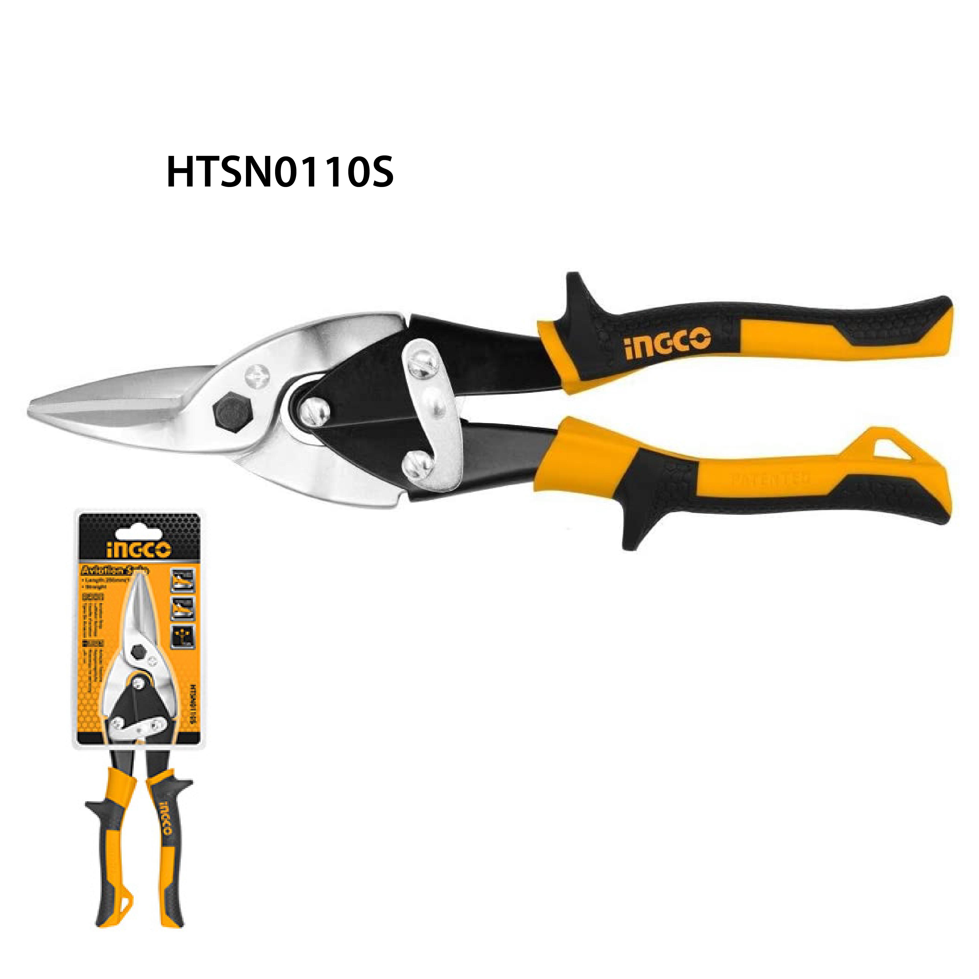 กรรไกรตัดแผ่นเหล็ก 10นิ้ว (ตัดตรง) INGCO HTSN0110S