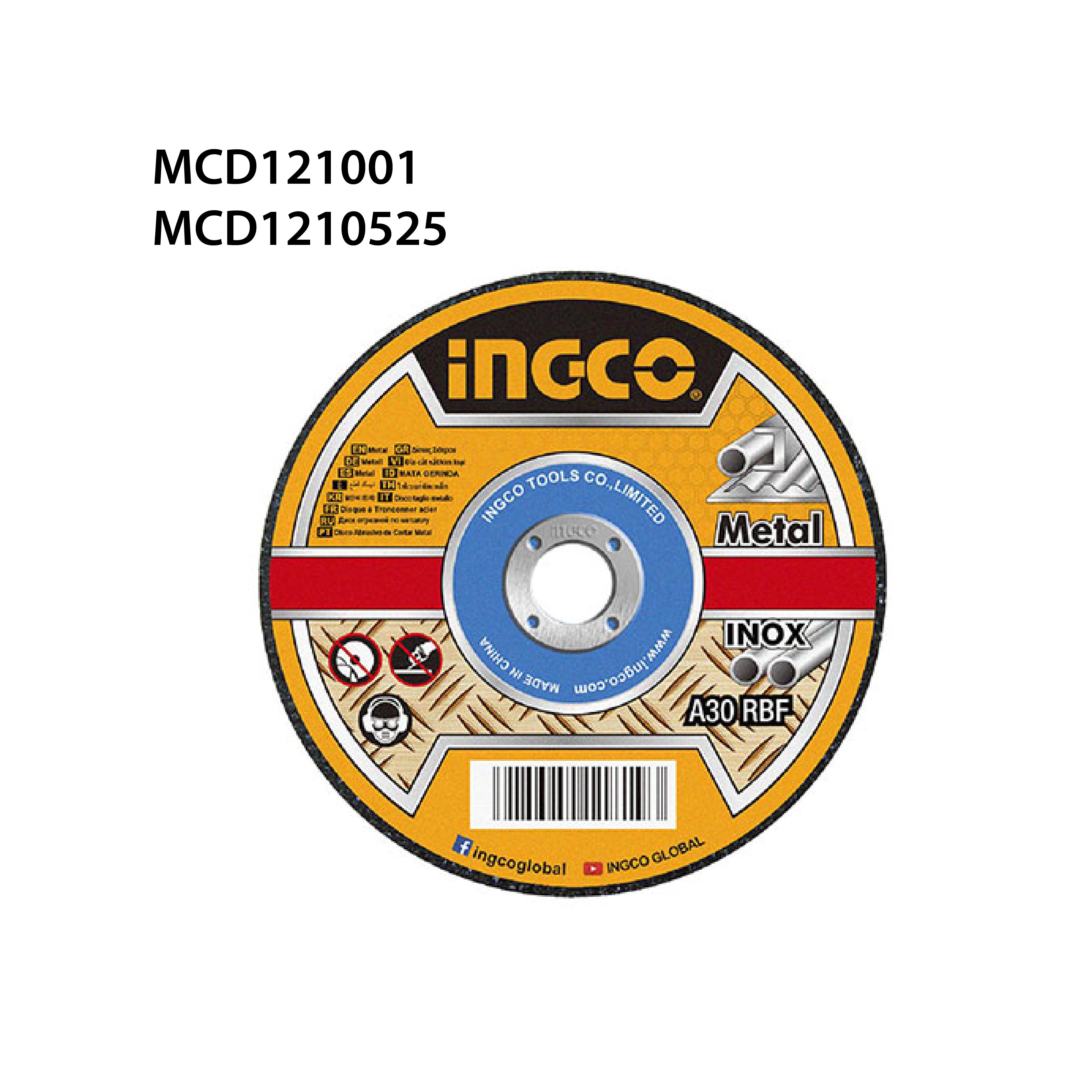 """ใบเจียรเหล็ก 4"""" INGCO MCD121001"""