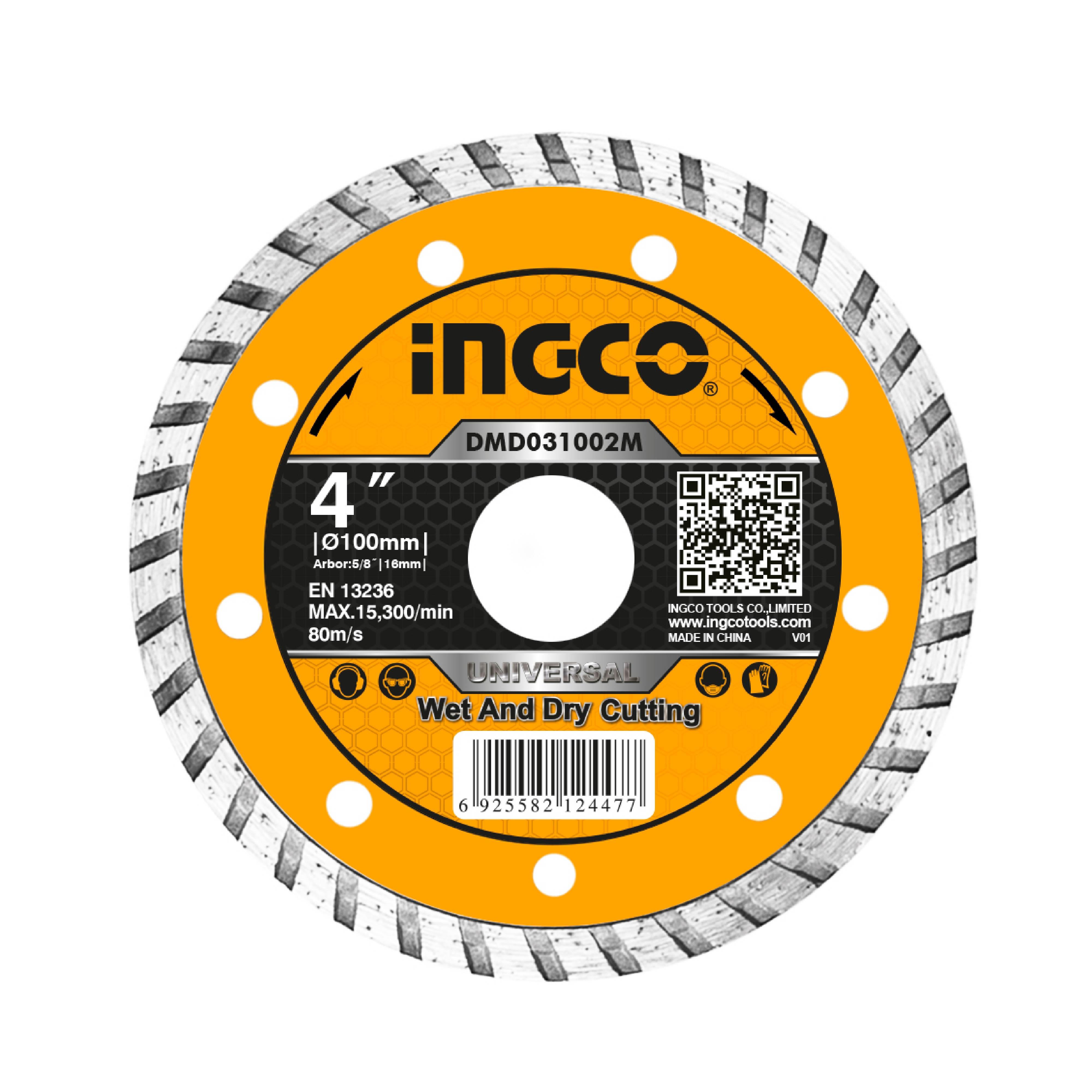 """ใบตัดเพชร 4""""x16 mm. INGCO DMD031002M"""