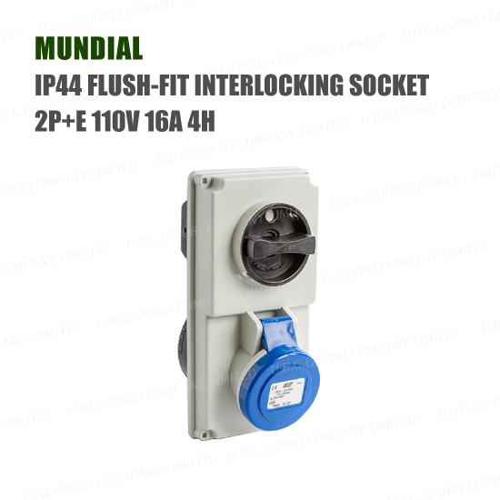 Industrial Plug & Socket - IP44 INTERLOCKING SOCKET 2P