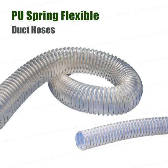 Flexible Ducts Hoses - PU Spring Flex