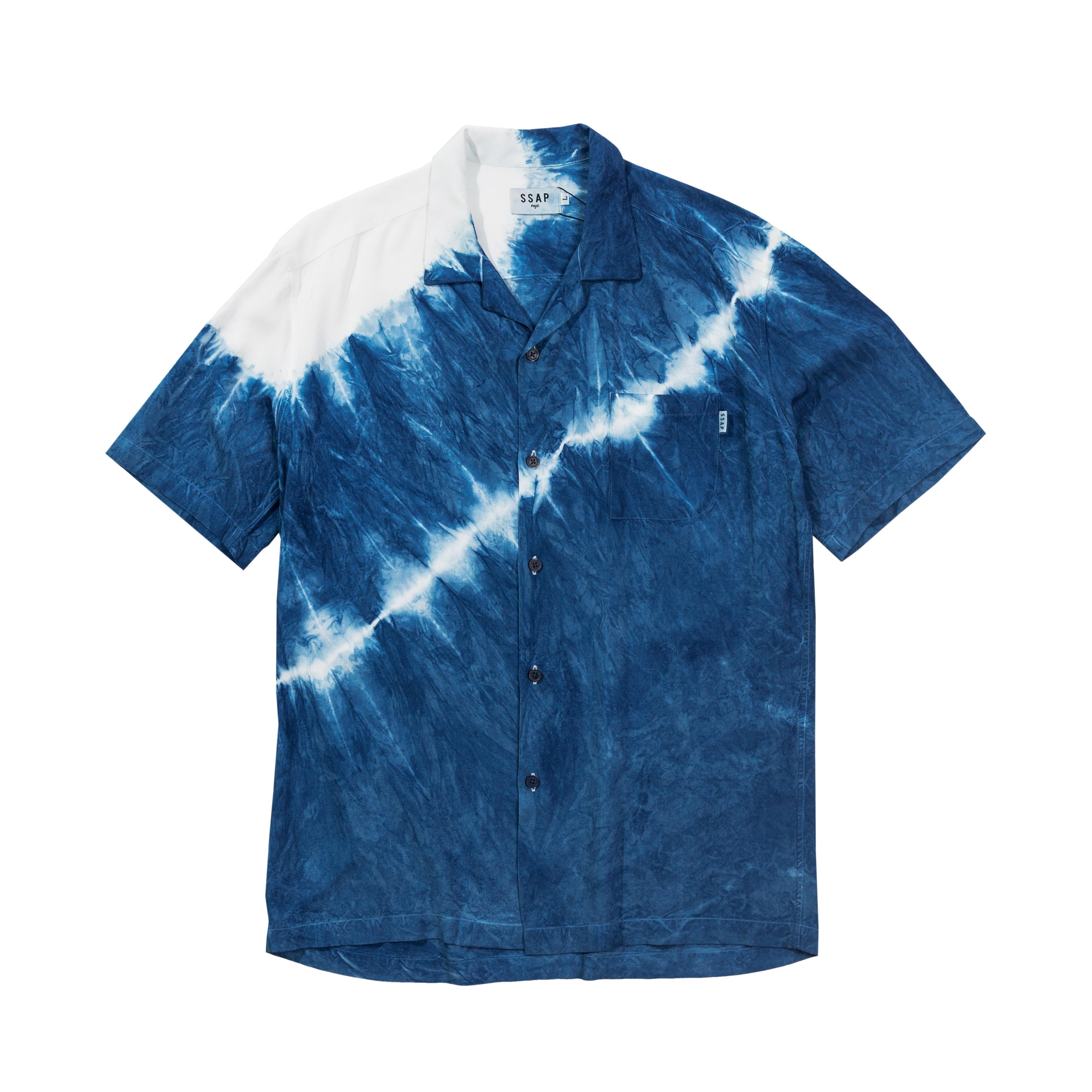 SSAP BLUE TIE-DYE SHIRT