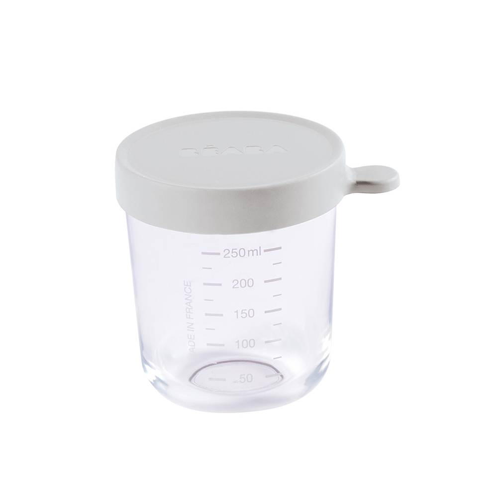 250 ml conservation jar in superior quality glass - LIGHT GREY