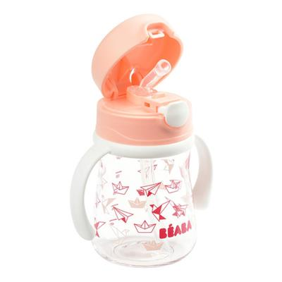 Staw cup with handles 240 ml - Light Pink