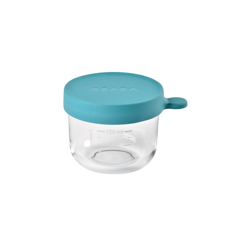 กระปุกแก้ว ฝาสูญญากาศ 150 มิลลิลิตร - สีฟ้าเข้ม conservation jar in superior quality glass 150 ml - LIGHT BLUE