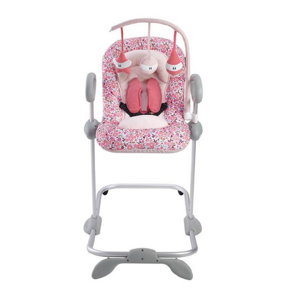 Up & Down Bouncer III with Play Arch - PINK LIBERTY