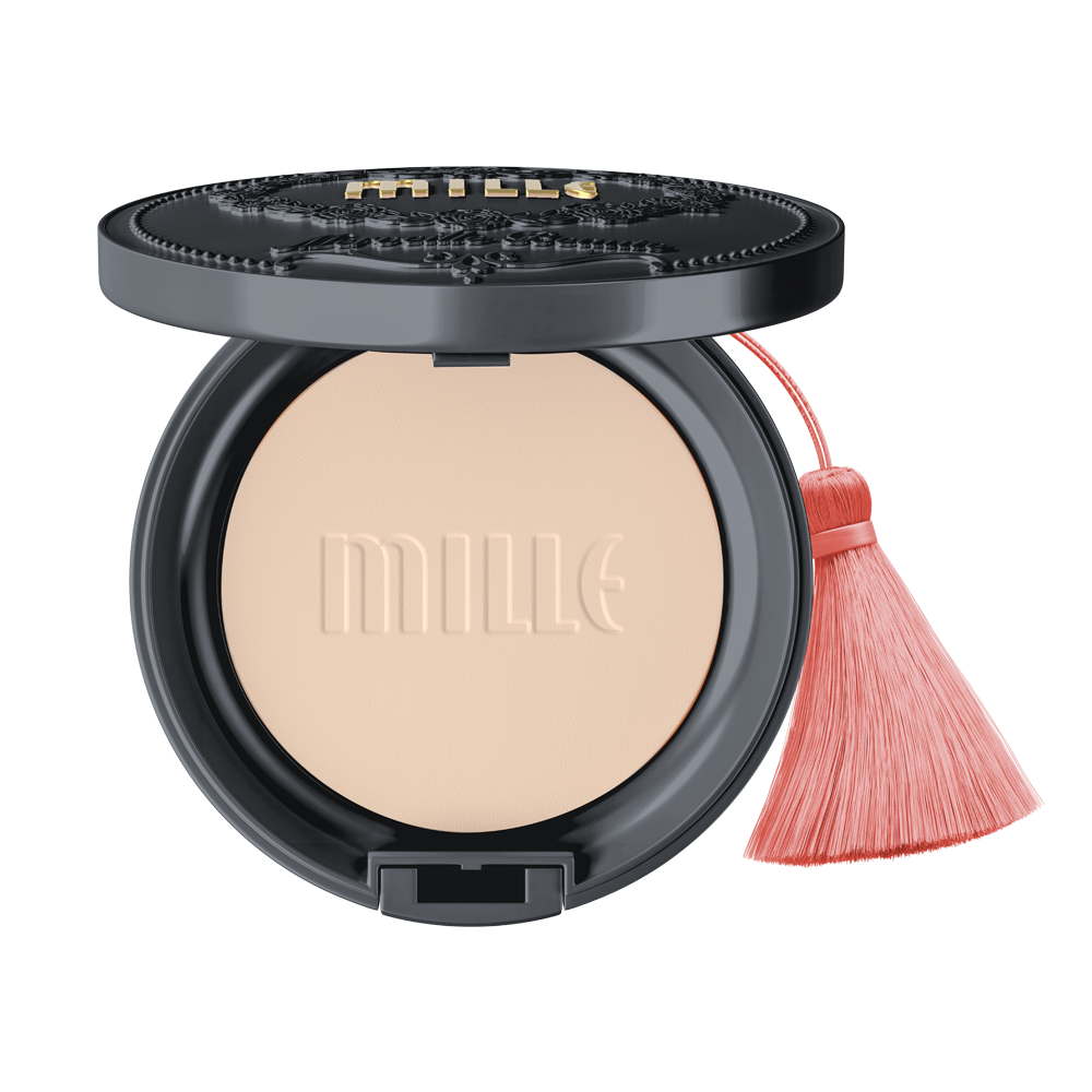 MILLE CHARCOAL MATTE COVER PACT SPF25 PA++  11G.