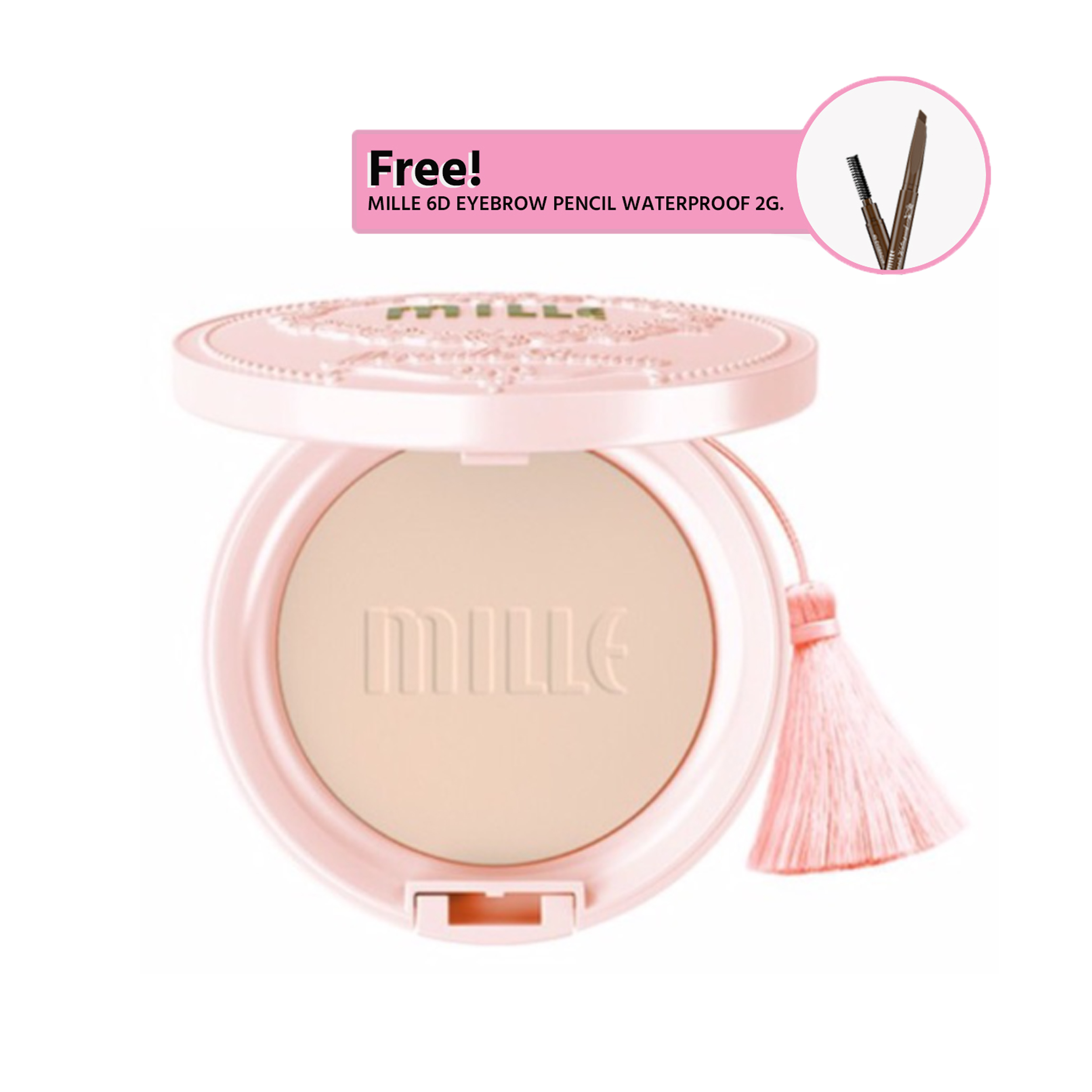 MILLE SNAIL COLLAGEN PACT SPF25 PA++  11G.