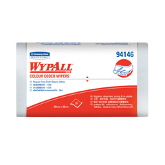 94146 WYPALL* Colour Coded Regular Duty Wipers (White)