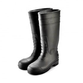 รองเท้านิรภัยบู๊ท พื้นNBR รุ่น W-6038 (Black) TIS 523-2554
