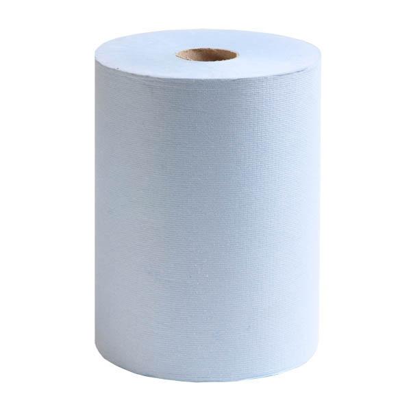 6699 กระดาษเช็ดมือแบบม้วน SCOTT AIRFLEX Slimroll Hand Towels-Roll Blue 190 m.