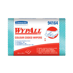 94164 WYPALL* Colour Coded Regular Duty Wipers (Green)
