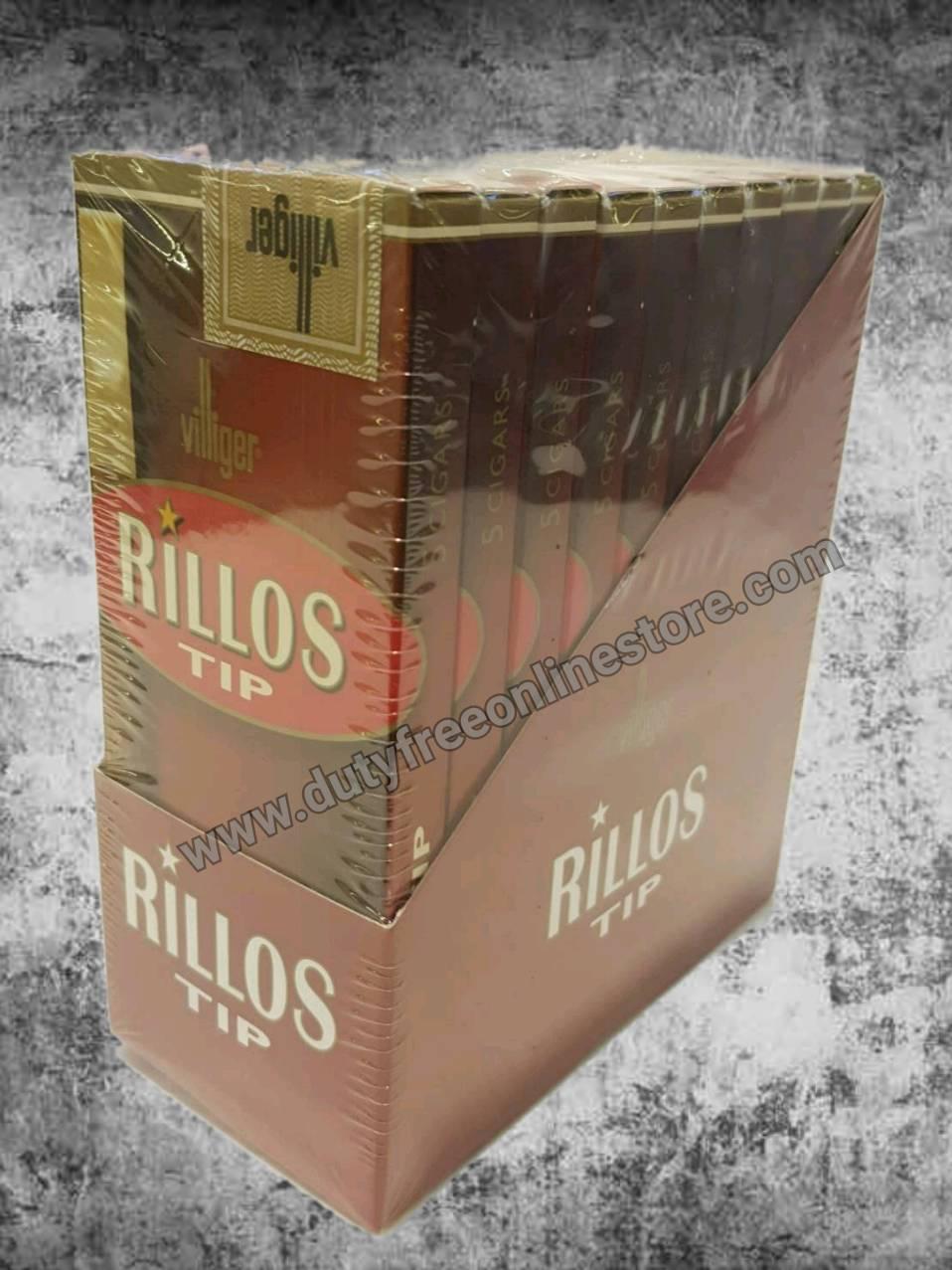 Villiger Rillos Tip  (Made in Germany) 5 X 10 = 50  cigars