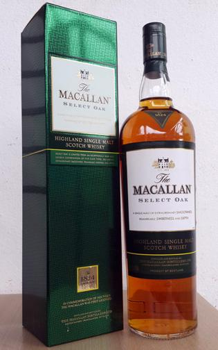 ลัง 12 ขวด The Macallan - 1824 Collection Select Oak (1 Litre)