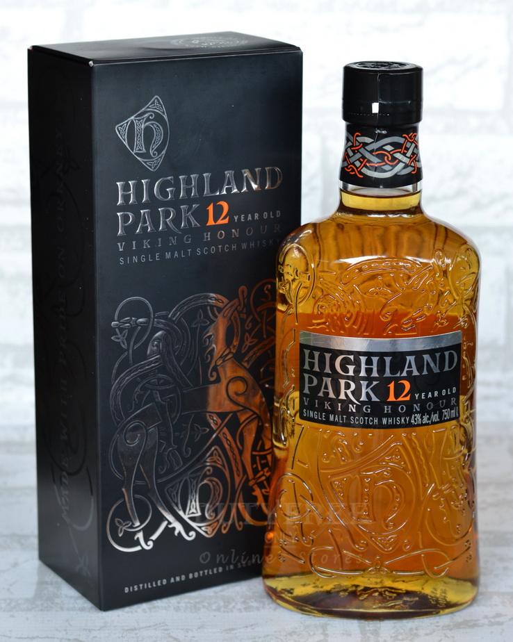 ลัง 12 ขวด Highland Park 12 Year Old - Viking Honour 750ml.