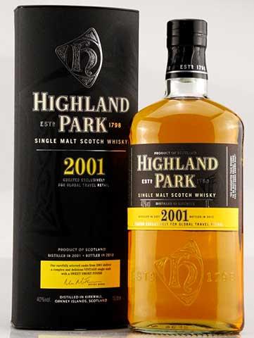 ลัง 12 ขวด Highland Park 2001 75cl.